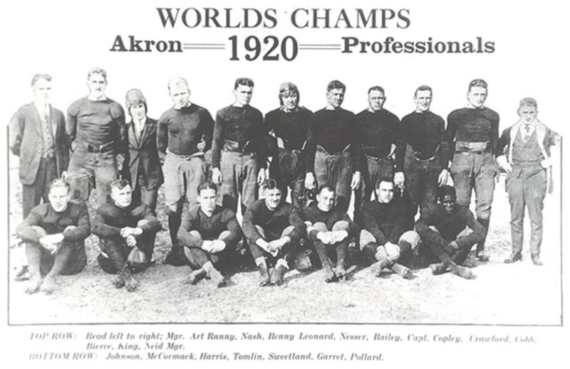 Ohio Pro Football Teams, the Early Football Roots in History